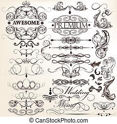 decorati, kollektion, calligraphic