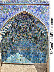 Decoratid wall niche in Gur-e-Amir mausoleum, Samarkand