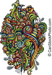 decoratief, abstract, vector, ornament, natuur