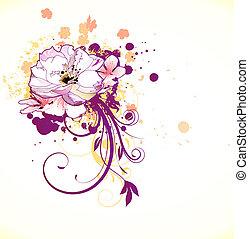 decoratief, achtergrond, floral