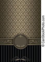 decoratief, achtergrond, frame., ouderwetse , elegant