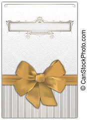 decoratief, achtergrond, goud, bow.