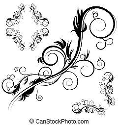 decoratief, antieke , flourishes