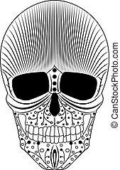 decoratief, artistiek, schedel