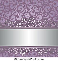 decoratief, backgroun, trouwfeest, viooltje