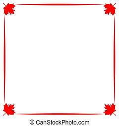 decoratief, blad, canadese vlag, symboliek, grens, esdoorn