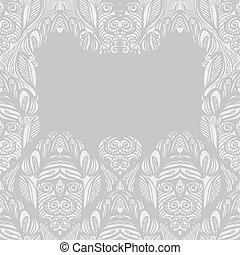 Decoratief, border, tribal design - Decoratieve rand,...