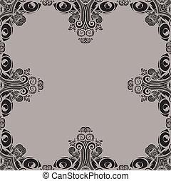 Decoratief, border, tribal design - Decoratieve rand voor...