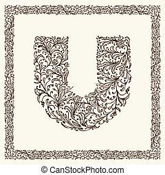 decoratief, brief, voor, jouw, ontwerp
