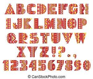 decoratief, brieven