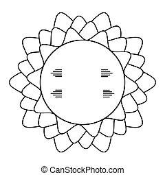 decoratief, cirkel, frame, geometrisch