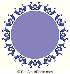 decoratief, cirkel, ontwerp