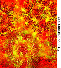 decoratief, concept, structure., kleur, abstract, lava, vuur, oosters, achtergrond, vlam, aarde, mandala