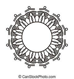 decoratief, decoratief, frame, black , witte