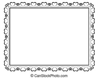 decoratief, decoratief, frame, kalligrafie, hart