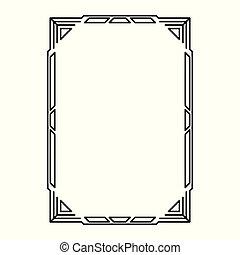 decoratief, decoratief, frame