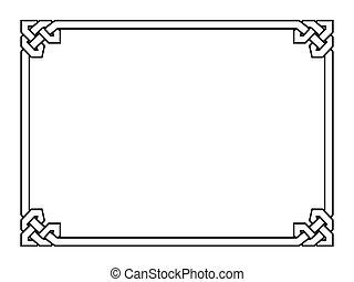 decoratief, decoratief, stijl, frame, gotisch, black