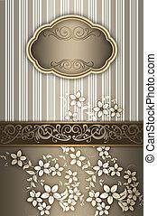 decoratief, elegant, frame., achtergrond