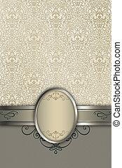 decoratief, elegant, frame, patterns., achtergrond