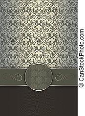 decoratief, elegant, grens, frame., achtergrond