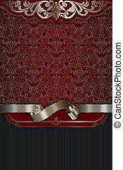 decoratief, elegant, ornament., achtergrond