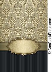 decoratief, elegant, patterns., achtergrond