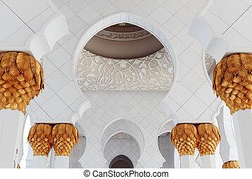 decoratief element, in, de, sjeik, zayed, voorname moskee