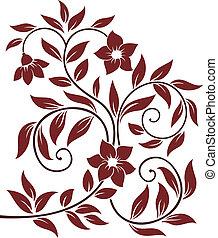 decoratief, floral, achtergrond