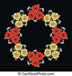 decoratief, floral, frame