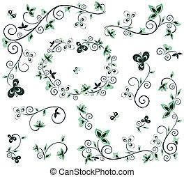 decoratief, floral onderdelen