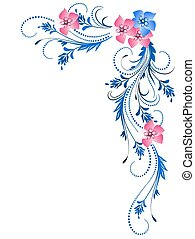 decoratief, floral, ornament