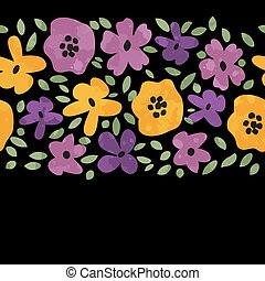 decoratief, floral rand