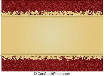 decoratief, floral, vector, ontwerp, achtergrond