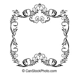decoratief, frame, black