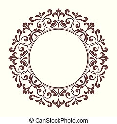 decoratief, frame, ontwerp, template., ronde