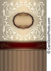 decoratief, frame, patterns., achtergrond