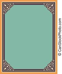 decoratief, frame, vector, grens, achtergrond