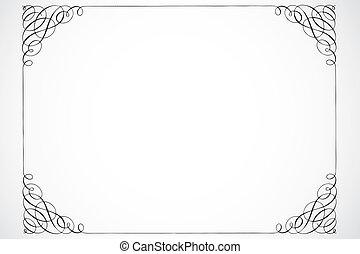 decoratief, frame, vector