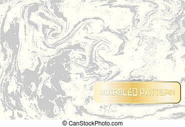 decoratief, grijs, illustration., goud, banner., licht, pattern., marbling, marmer, doorregen, vector, achtergrond, witte , texture.