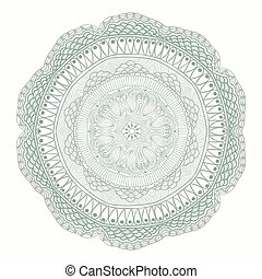 decoratief, haken, kant, velen, met de hand gemaakt, model, details, blik, achtergrond, cirkel, ronde, zoals