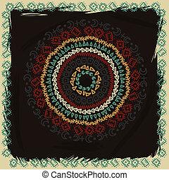decoratief, haken, motief, kant, blik, arabesk, kantachtig, oosten, designs., met de hand gemaakt, model, details, achtergrond, oosters, cirkel, grunge, ornament., achtergrond, zoals, velen, traditionele , ronde