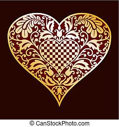 decoratief, hart
