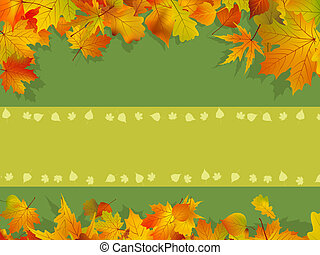 decoratief, herfst, achtergrond