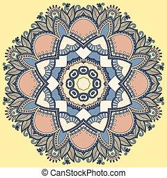 decoratief, kant, geometrisch patroon, ornament, dekservet, cirkel, ronde