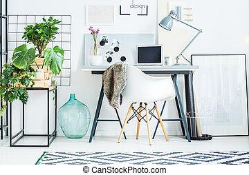 decoratief, kantoor, kamer