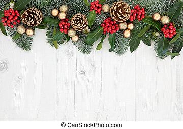 decoratief, kerstmis, grens