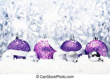 decoratief, kerstmis, groet