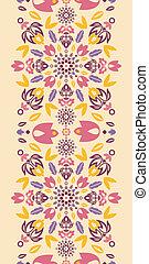 decoratief, kleurrijke, verticaal, tulpen, seamless, model, grens