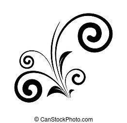 decoratief, kolken, communie, floral