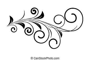 decoratief, kolken, ontwerp, floral